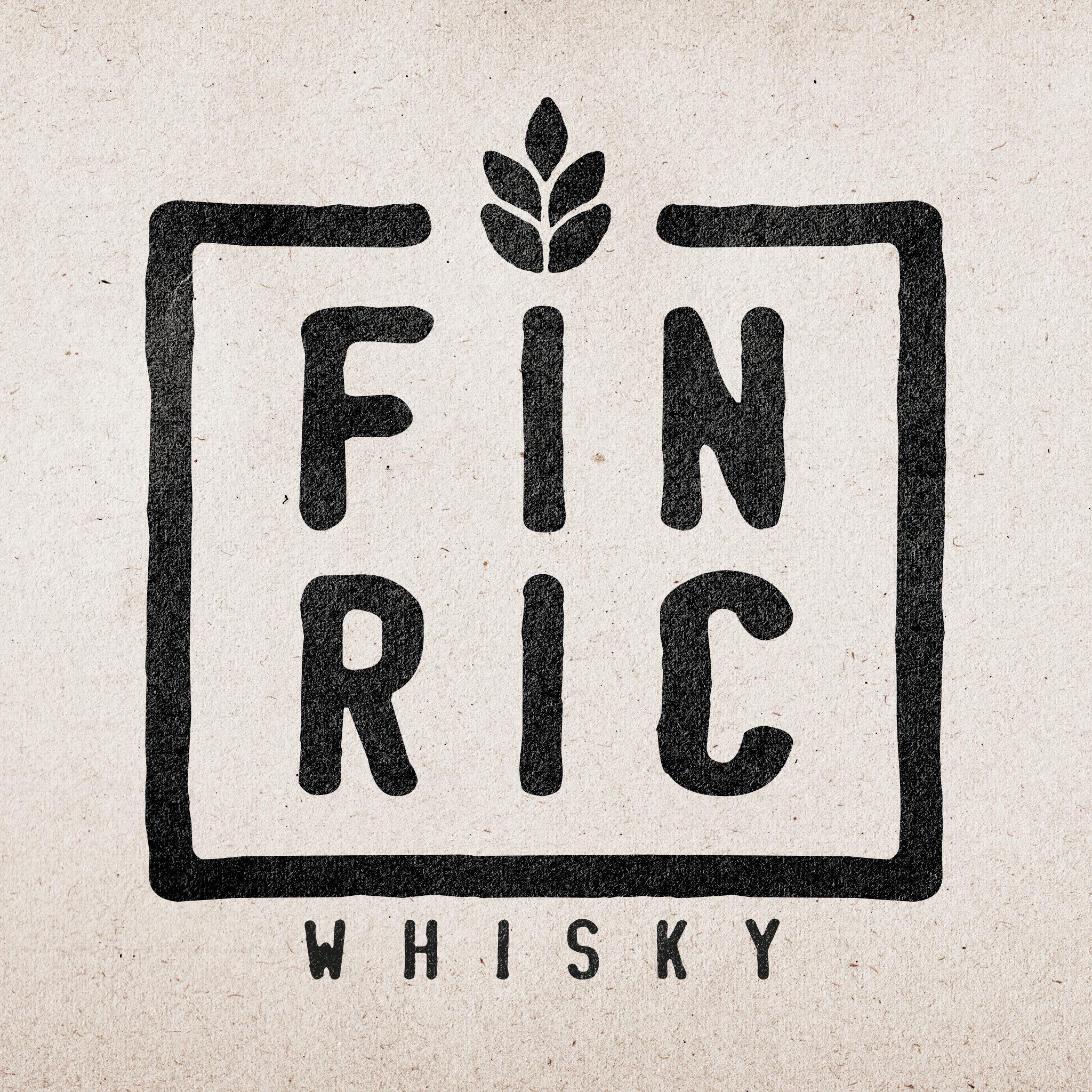 Logo: FINRIC Whisky auf Papier
